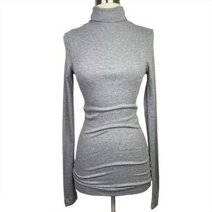 Heather By Bordeaux Gray Ribbed TurtleNeck, Petite